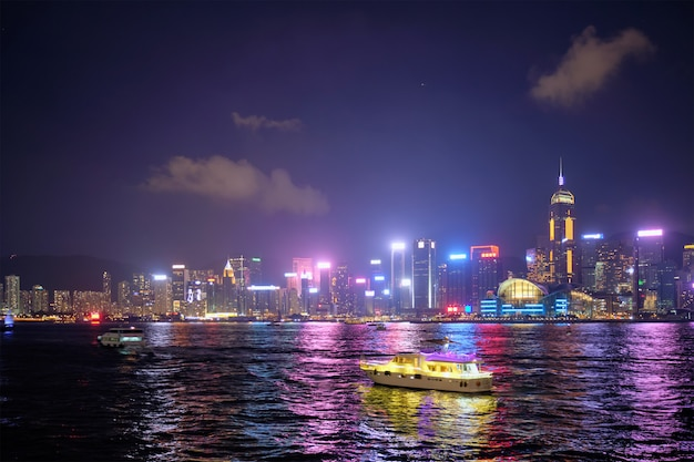 Skyline van hong kong. hong kong, china