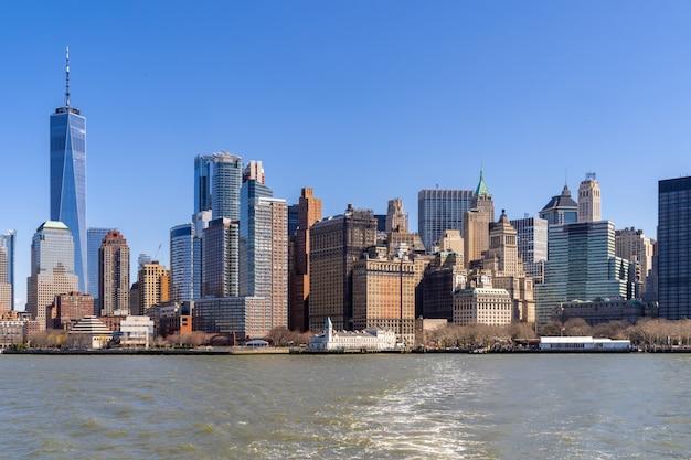 Skyline van new york city lower manhattan