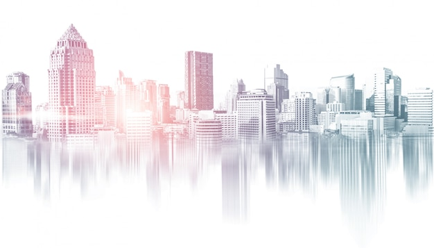 Skyline van stadsgebouwen van grootstedelijk gebied