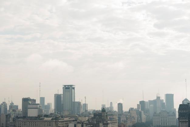 Skyline van stedelijk landschap