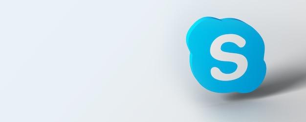 Skype-logobanner met witte achtergrond