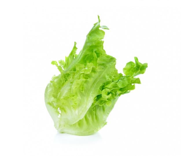 Sla salade op wit wordt geã¯soleerd