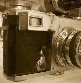 Slaan oude camera