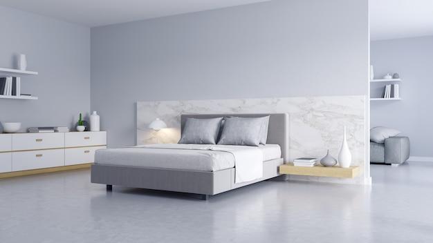 Slaapkamer en moderne loft-stijl