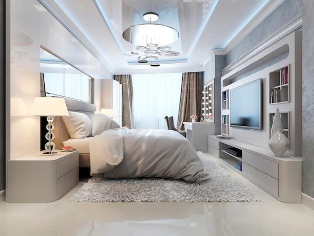 Slaapkamer in klassieke en art-decostijl