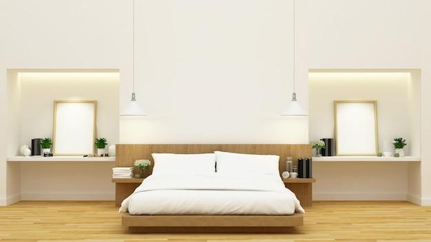 Slaapkamerdecoratie - 3d-rendering