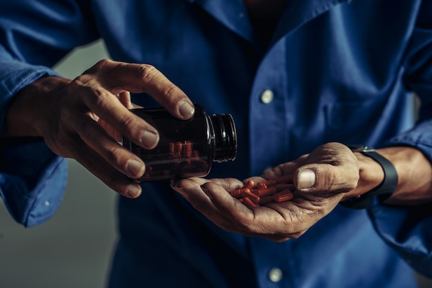Slachtoffers die aan drugs lijden