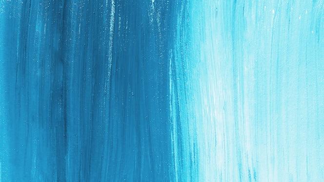 Slagachtergrond van heldere blauwe verf
