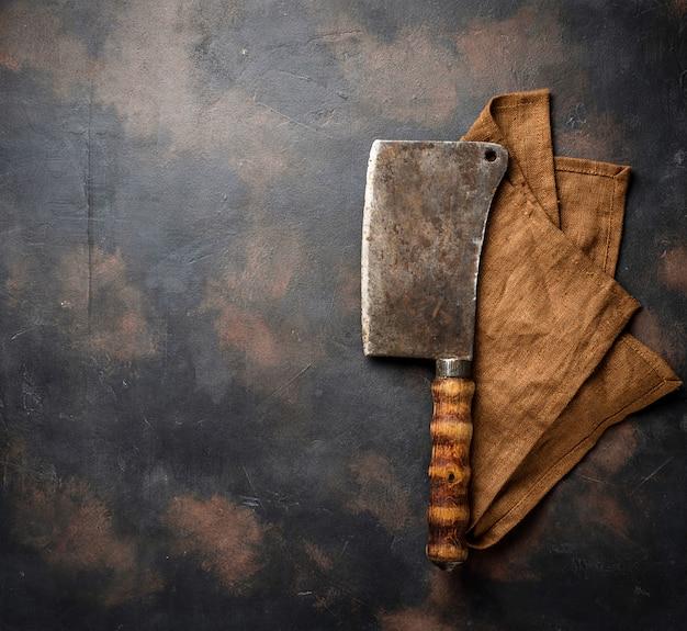 Slagers vintage hakmes voor vlees