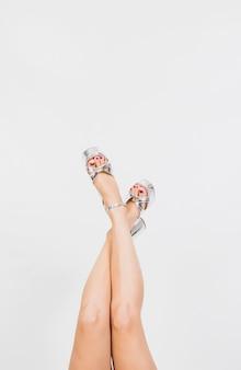 Slanke vrouwelijke benen