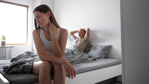 Slecht seksconcept met overstuur paar