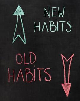 Slechte gewoonten versus nieuwe gewoonten