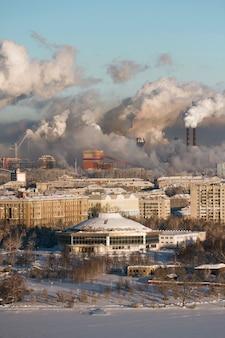Slechte omgeving in de stad. milieuramp