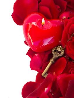 Sleutel met het hart als symbool van liefde