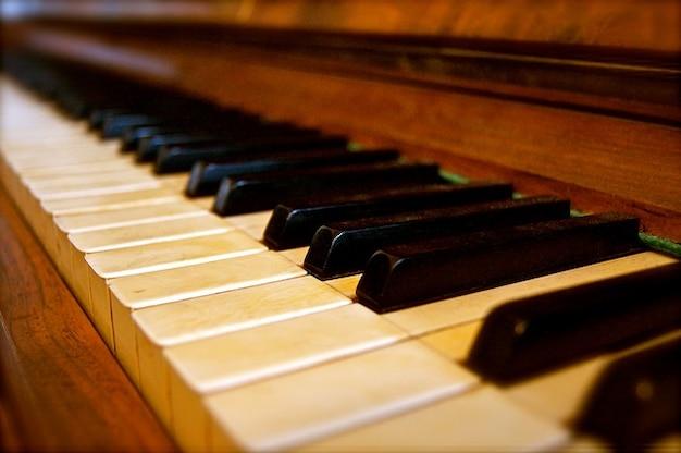 Sleutels lied geluid muziek oud historisch piano