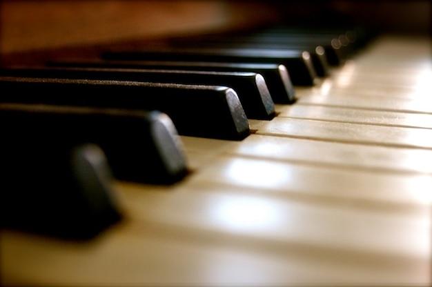 Sleutels pianomuziek instrument oud geluid