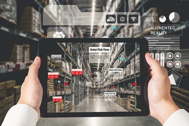 Slim magazijnbeheersysteem dat gebruikmaakt van augmented reality-technologie