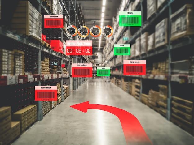 Slim magazijnbeheersysteem met behulp van augmented reality-technologie