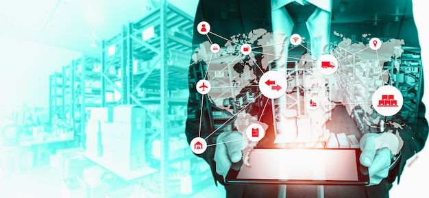 Slim magazijnbeheersysteem met innovatieve internet of things-technologie