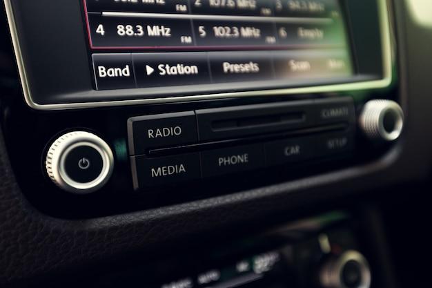 Slim multimedia touchscreen-systeem voor auto's