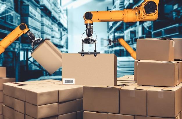 Slim robotarmsysteem voor innovatieve digitale magazijn- en fabriekstechnologie
