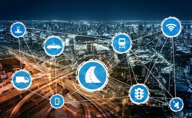 Slim transporttechnologieconcept voor toekomstig autoverkeer op de weg