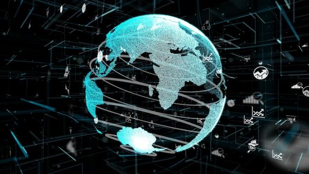 Slimme bedrijfsgegevens analytische technologie abstract