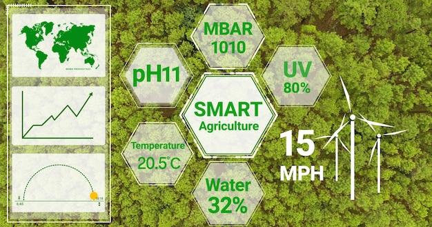 Slimme digitale landbouwtechnologie door het verzamelen van futuristische sensorgegevens