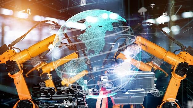 Slimme industriële robotarmen modernisering voor digitale fabriekstechnologie