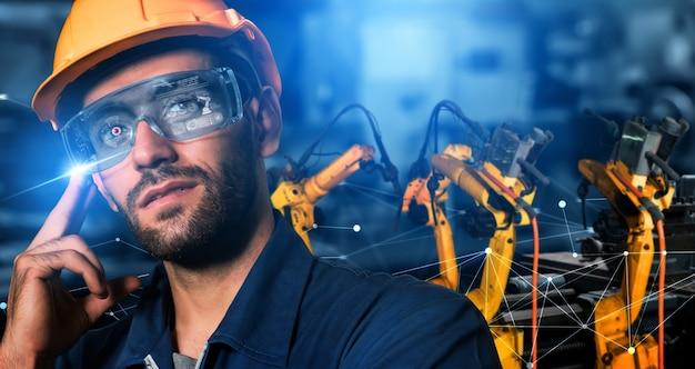 Slimme industriële robotarmen voor digitale fabrieksproductietechnologie