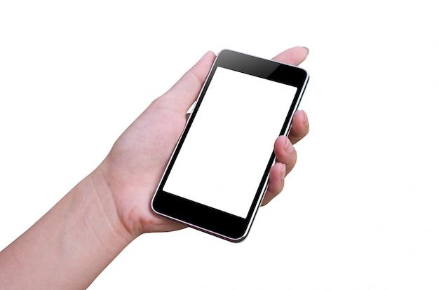Slimme telefoon en hand