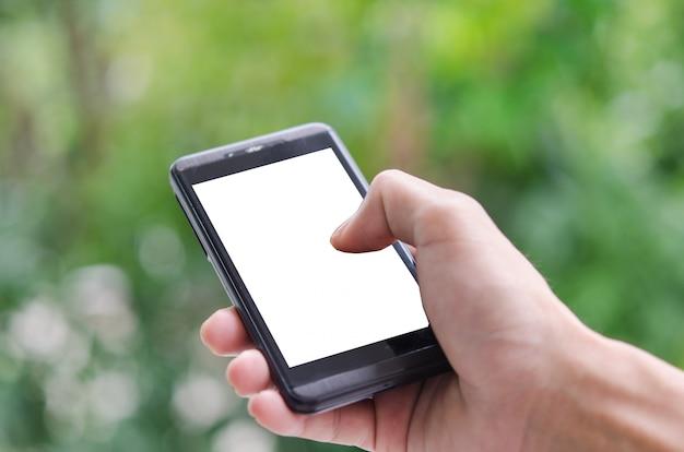 Slimme telefoon in de hand