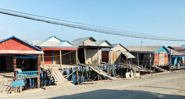 Sloppenwijken in cambodja