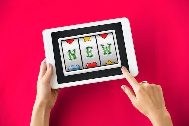 Slot bingo woorden grafisch concept