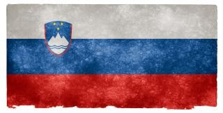 Slovenië grunge vlag