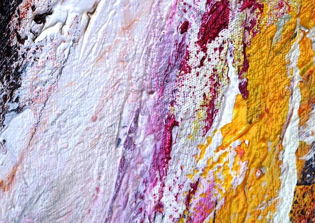 Sluit hand trekken omhoog kleurrijke olieverfschilderij abstracte textuur.
