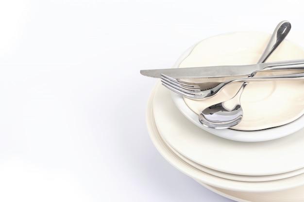 Sluit het dineren omhoog de tafelzilvervork
