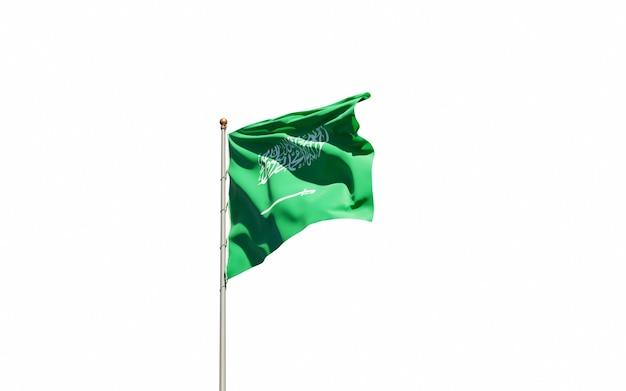 Sluit omhoog bij het teruggeven van geïsoleerde nationale vlag