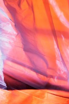 Sluit omhoog detail van plastic zak