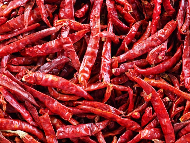 Sluit omhoog droge rode spaanse peper.