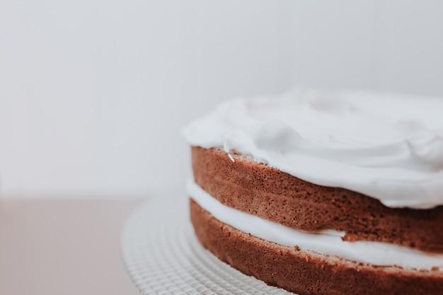 Sluit omhoog geschoten van cake