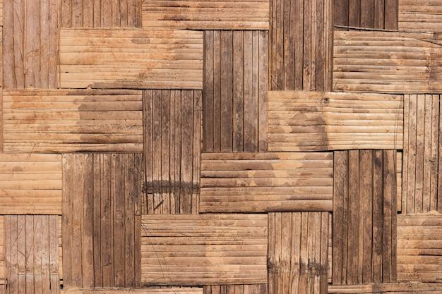 Sluit omhoog geweven bamboemuurpatroon.