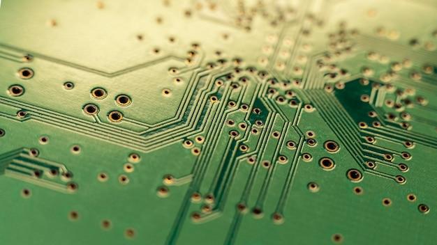Sluit omhoog groene technologische achtergrond