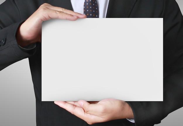 Sluit omhoog het document van de handholding spatie voor brievendocument