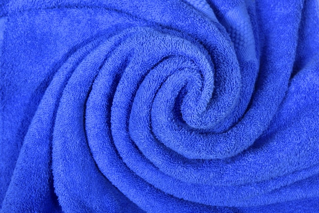 Sluit omhoog mening van blauwe handdoek