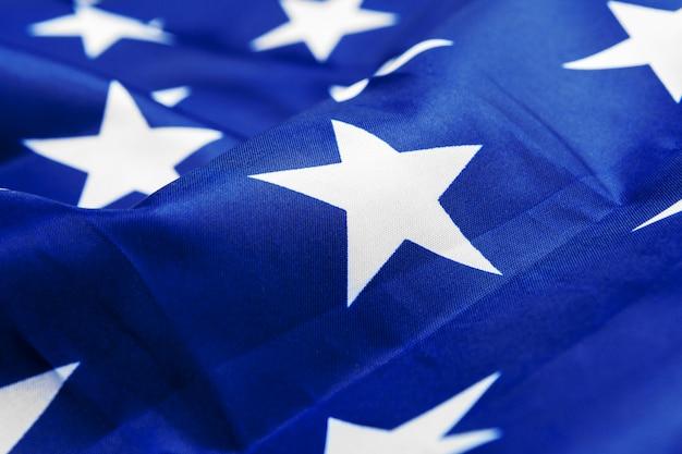 Sluit omhoog ontsproten van de amerikaanse vlag van de vs