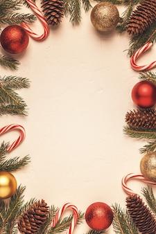 Sluit omhoog op diverse kerstversieringen