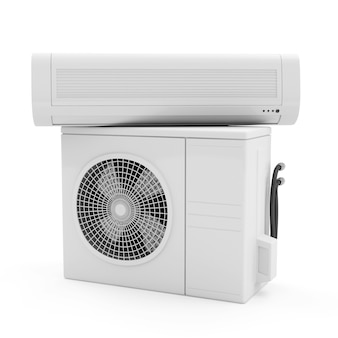 Sluit omhoog op geïsoleerd airconditionersysteem