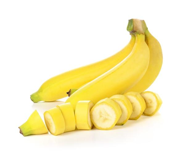 Sluit omhoog op geïsoleerd banaanfruit