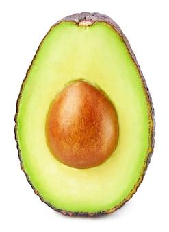 Sluit omhoog op geïsoleerd rijp avocadofruit